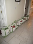 All the bridesmaid's bags