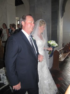 Our proud father, and the bride