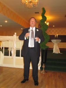 Dad giving his wonderful toast