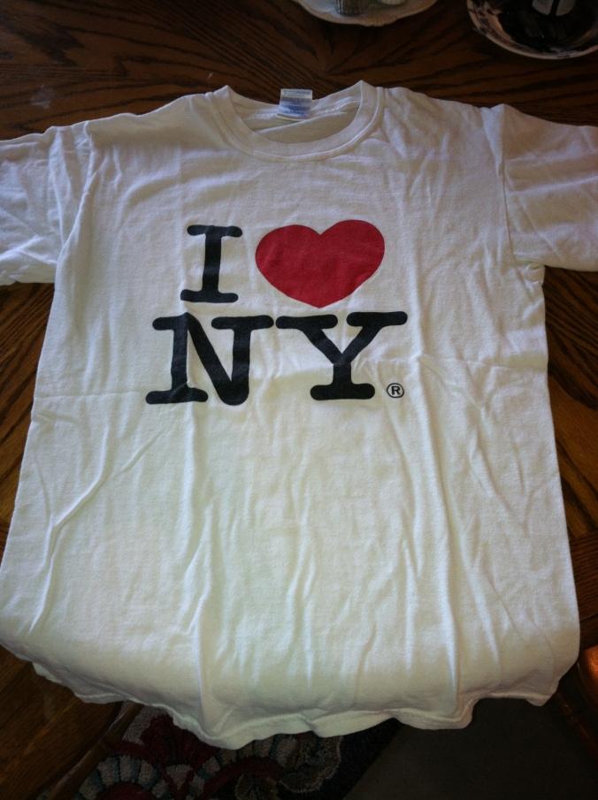 My I <3 NY t-shirt